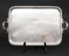 Antique Silver tray made from 84 purity silver, Russia, 1860's