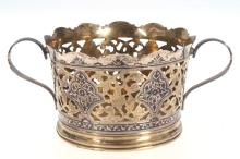 Silver bowl with gilding , Kubachinsk Art Factory, Russia, 1960's