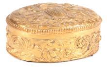 Antique Baroque style gilded silver chest with master hallmark,  Strasbourg,