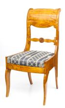 Couple of antique Biedermeier style birch chair's , Beginning of 19th century