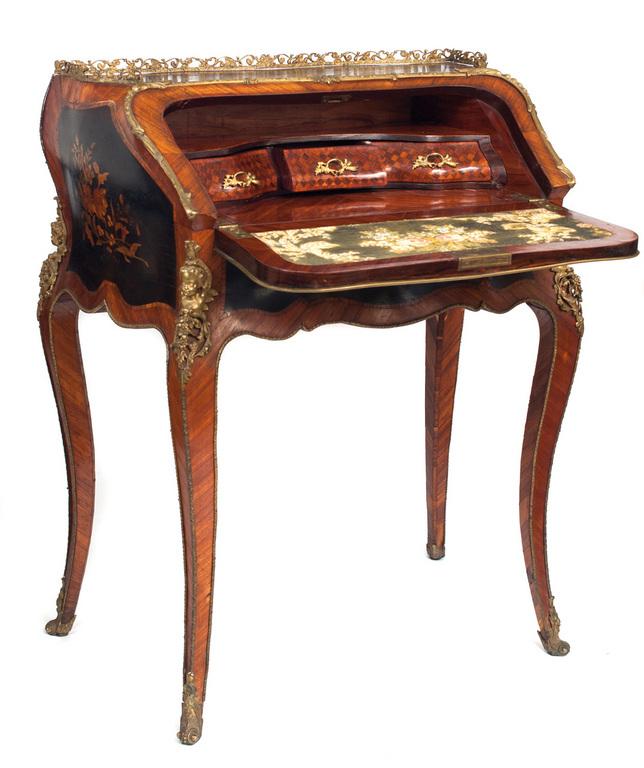 louis xv style secretaire bureau de dame second half of. Black Bedroom Furniture Sets. Home Design Ideas