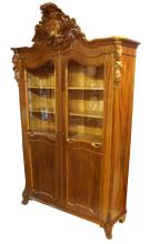 Antique Wulnut Bookcase, Second half of 19th century