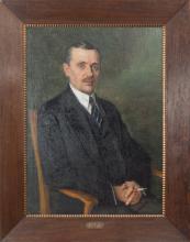 Portrait of the Belarusian poet - Janka Kupala by Nikolai Bogdanov-Belsky (1868–1945)
