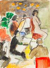In the artists workshop; Aleksandra Belcova (1892-1981)