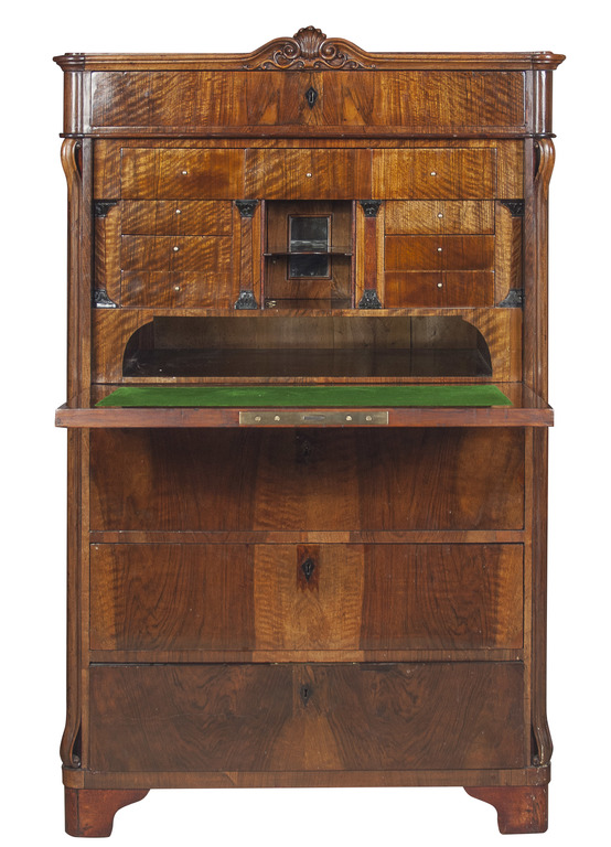 second half of 19th century walnut secretaire. Black Bedroom Furniture Sets. Home Design Ideas