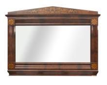 19th century Biedermeier style mahogany wall mirror