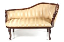 Beginning of 20th century Empire style sofa from black alder