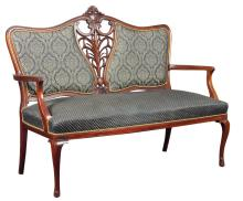 Beginning of 20th century Art Nouveau style Mahagony Sofa