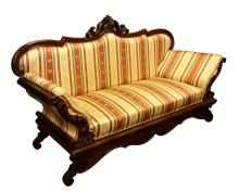 End of 19th century Biedermeier style mahogany sofa