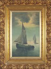 19th century HARRV copy Oil painting on canvas  - 'Sailboats'