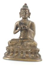 Antique Thailand Buddhism bronze figure Buddha