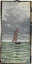 End of 19th century Author's signature Sail boat