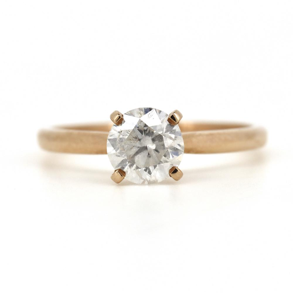 14K Rose Gold, 1.01ct Diamond, Solitaire Ring