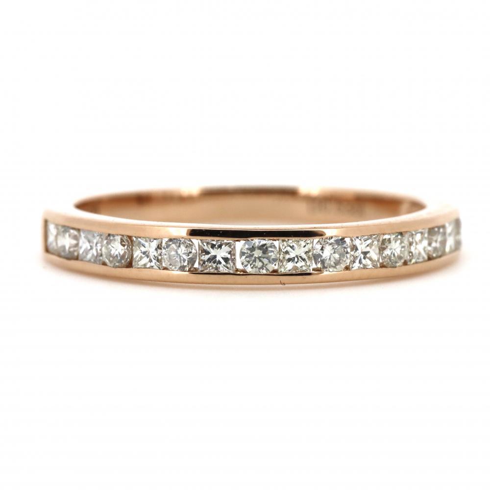 18K Rose Gold, 0.53ct TDW Diamond, Channel Set Ring