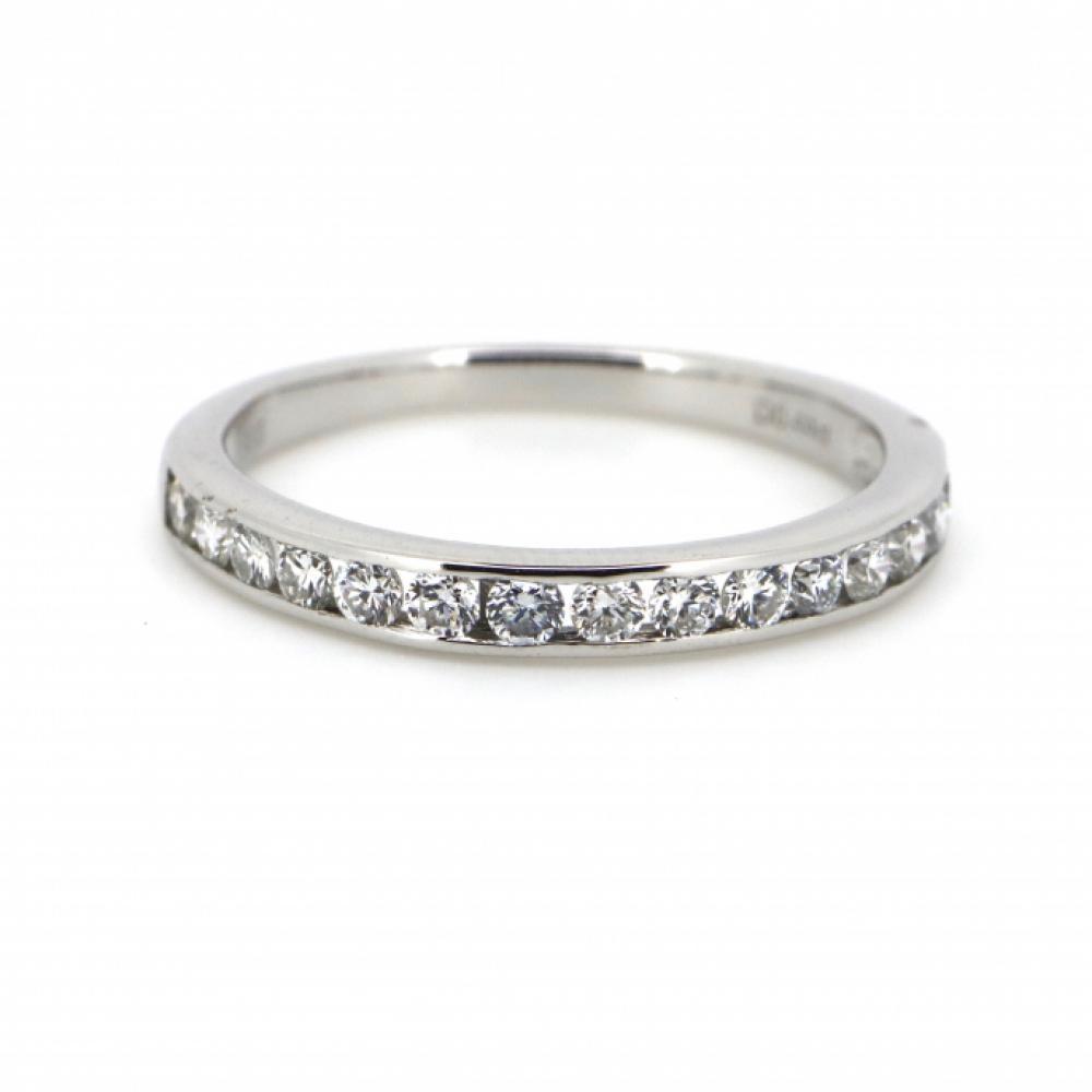 14K White Gold, 0.44ct TDW Diamond, Channel Set Ring