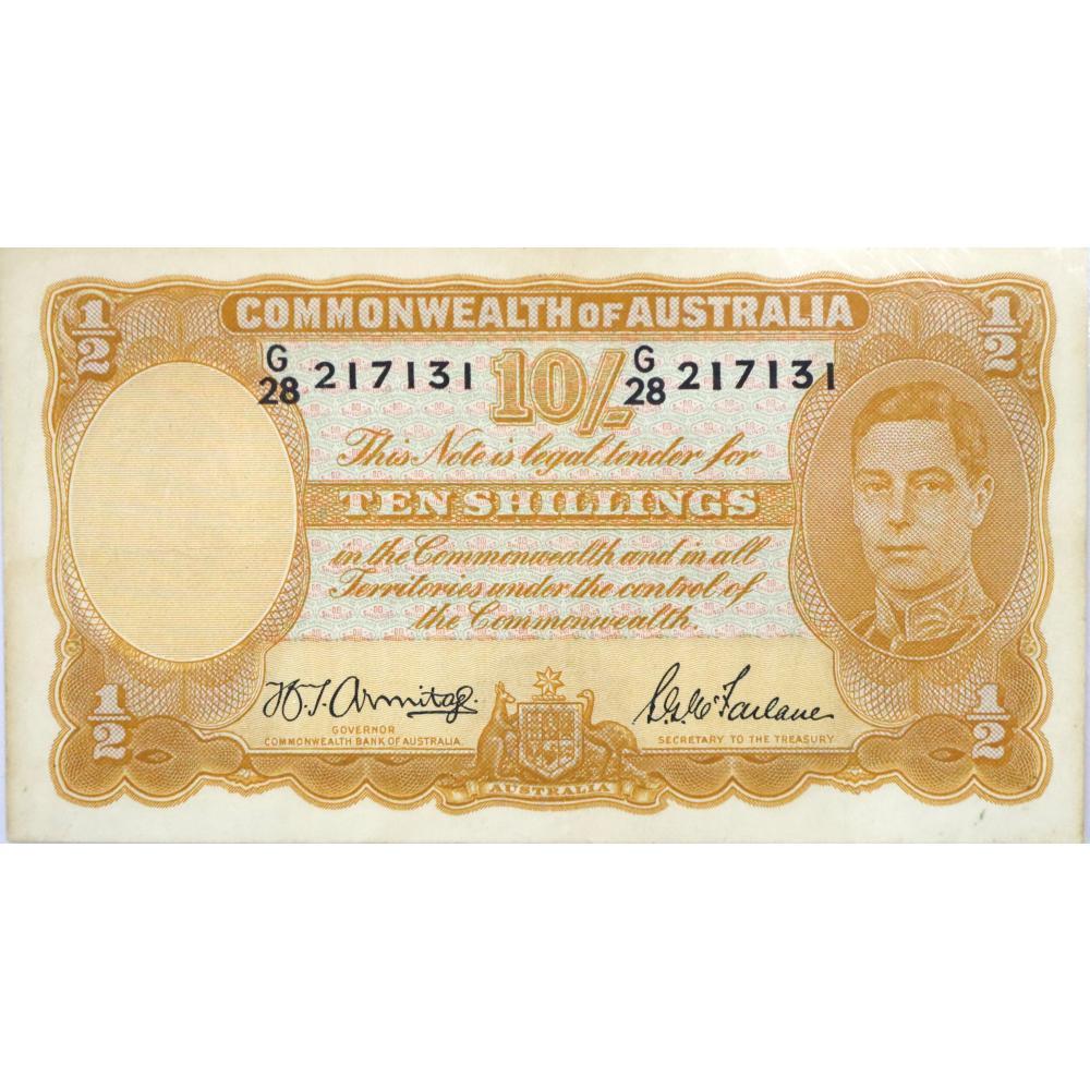1X Commonwealth Of Australia, Ten Shilling Banknote