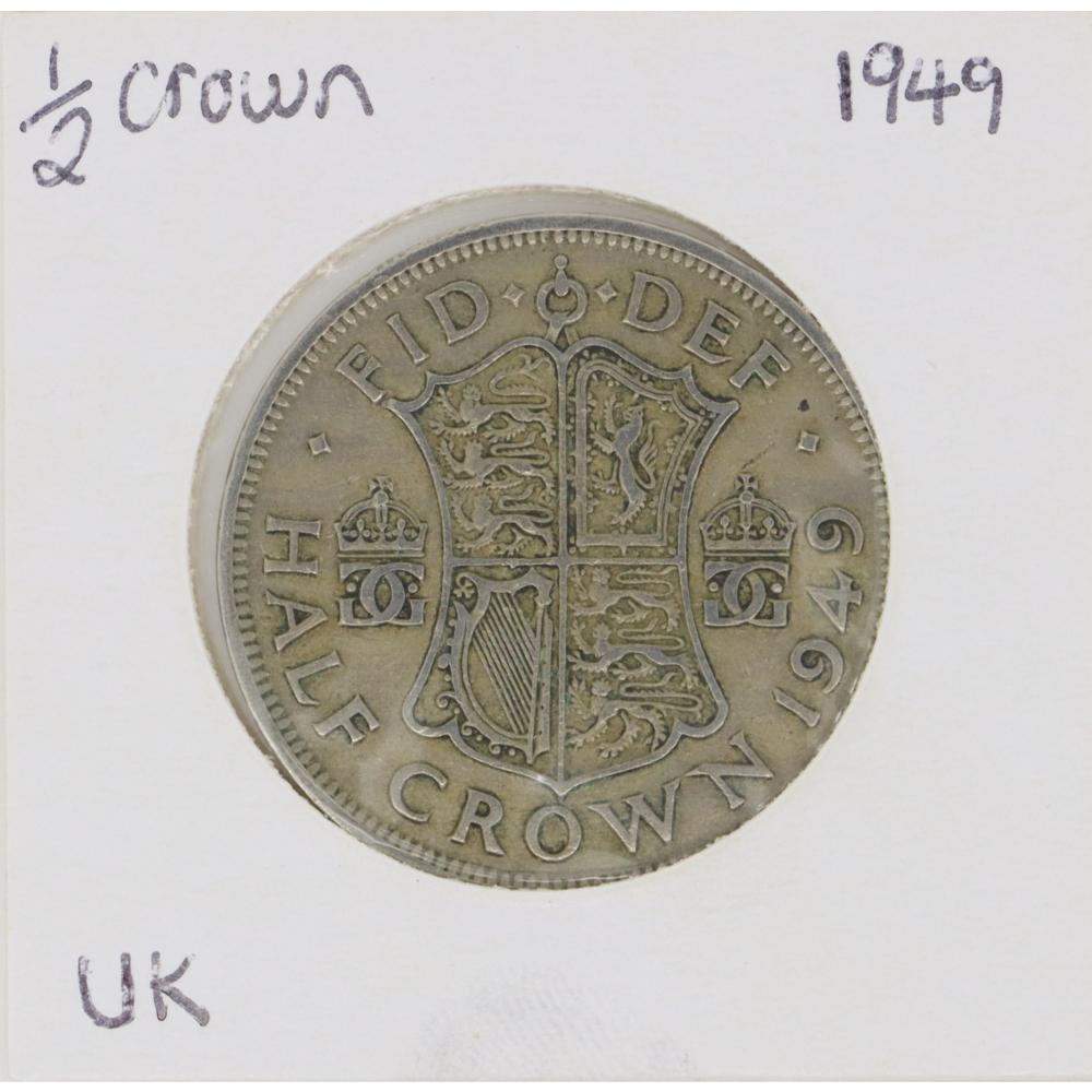 1949 George VI Half Crown Coin