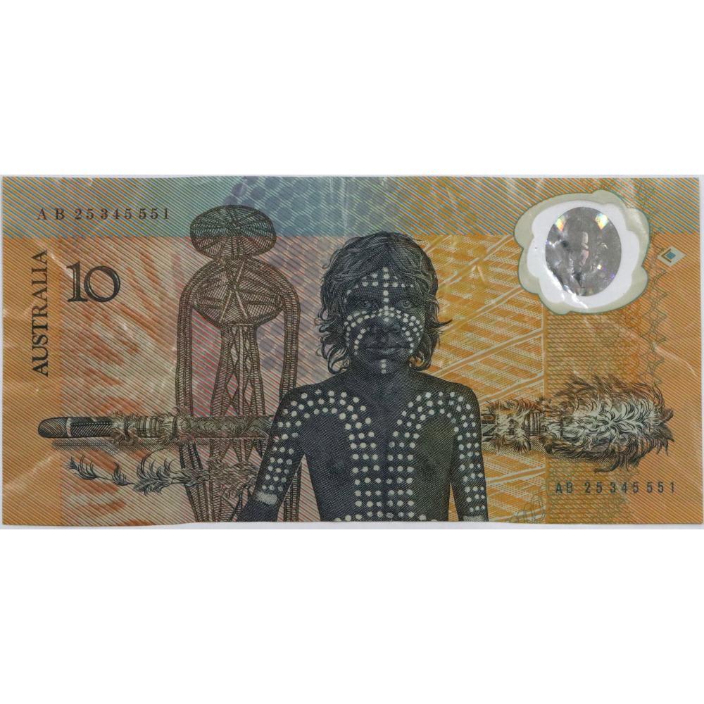 1 x Australian Polymer 10 Dollar Bank Note