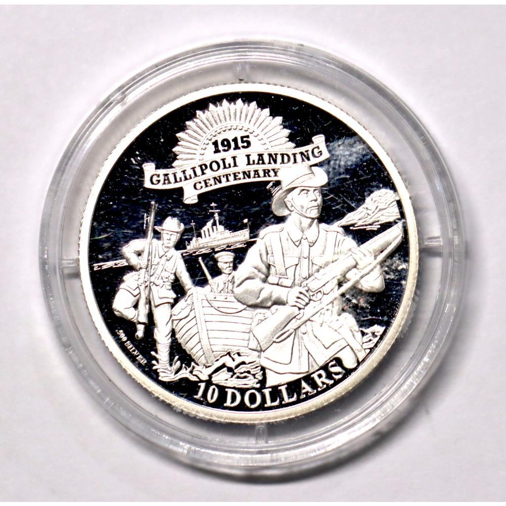 2015 Kiribati $10 Gallipoli Landing 1915 Silver Coin