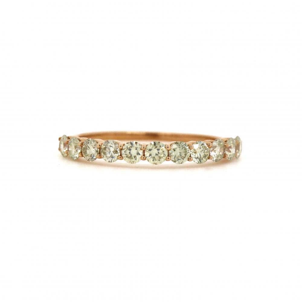 14K Rose Gold, 0.69ct TDW Diamond, Band Ring
