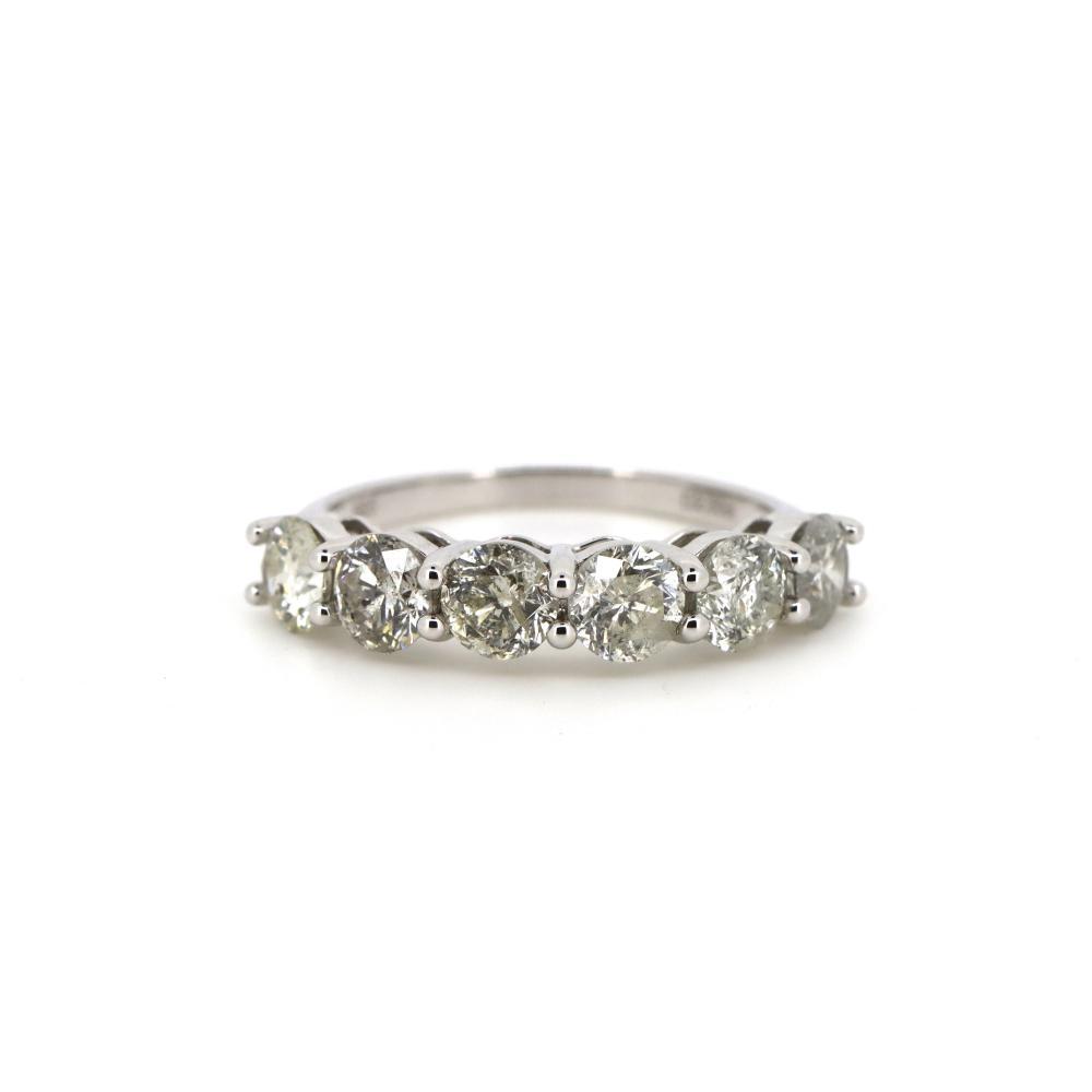 14K White Gold, 2.30ct TDW Diamond, Band Ring