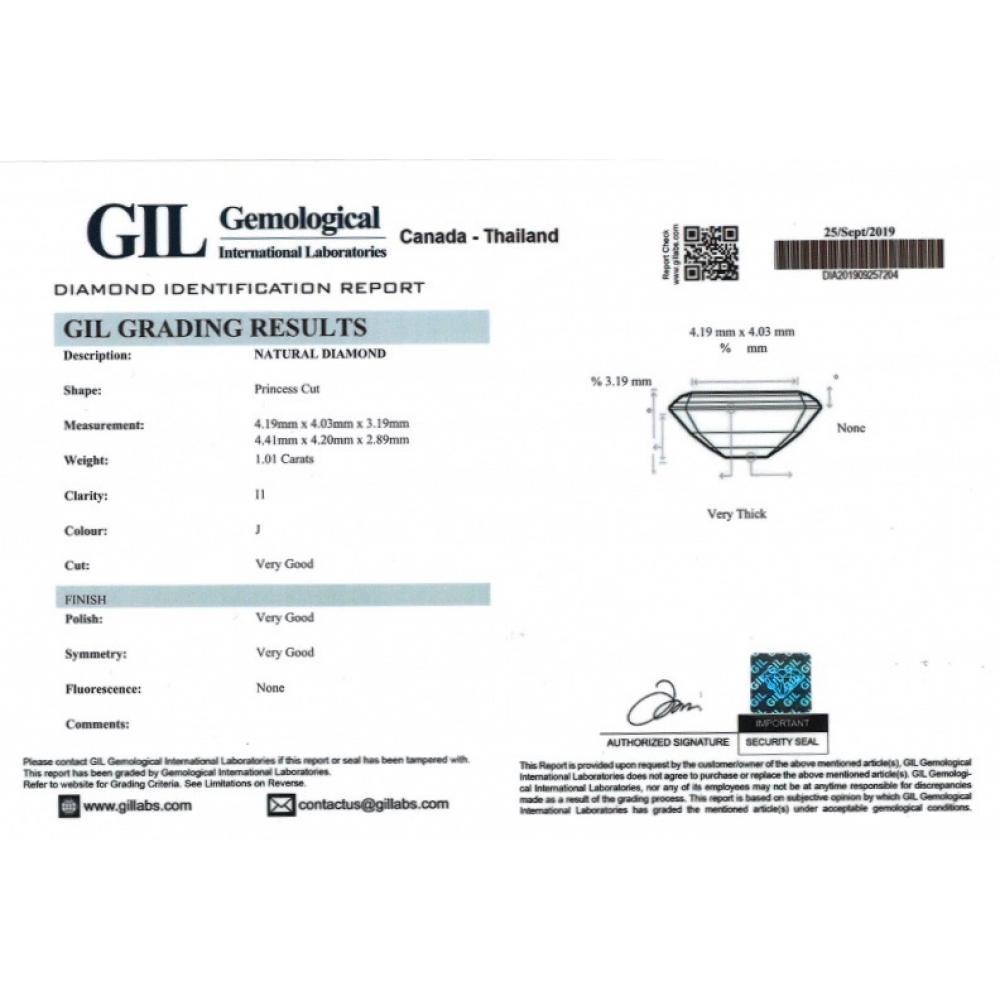 1.01ct TDW Certified, Natural Diamonds