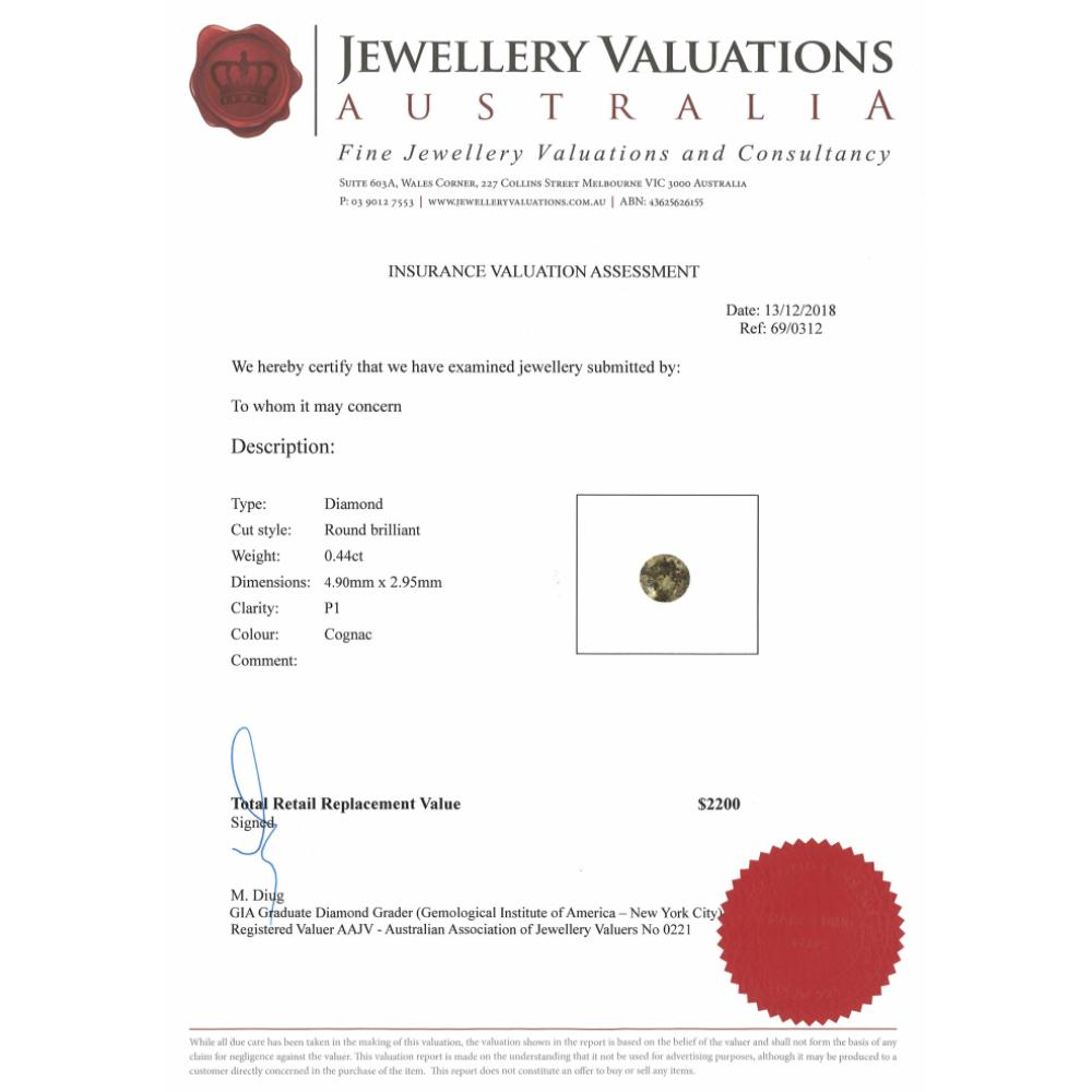 0.44ct Cognac Diamond