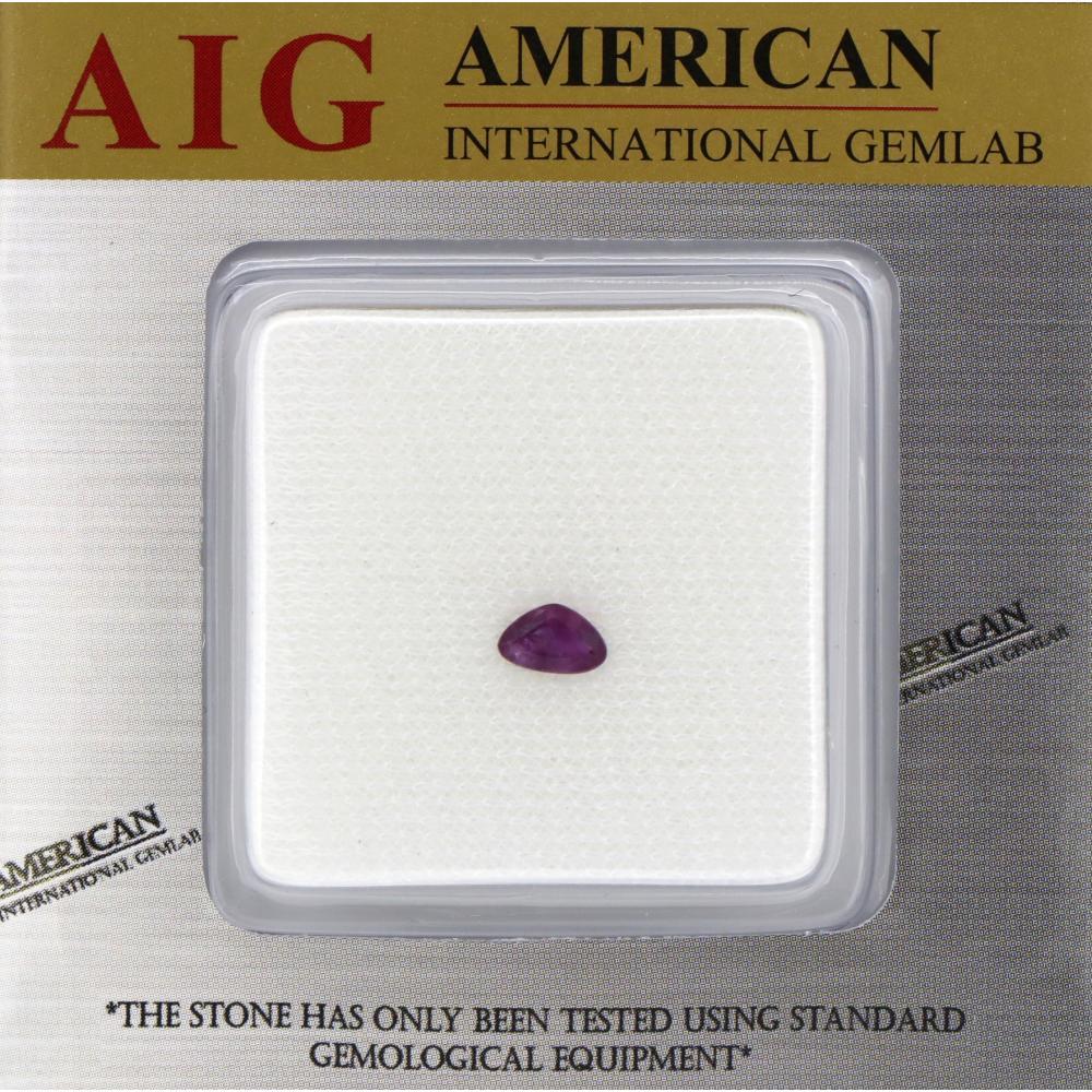 0.62ct Natural Purple Kashmir Corundum Sapphire