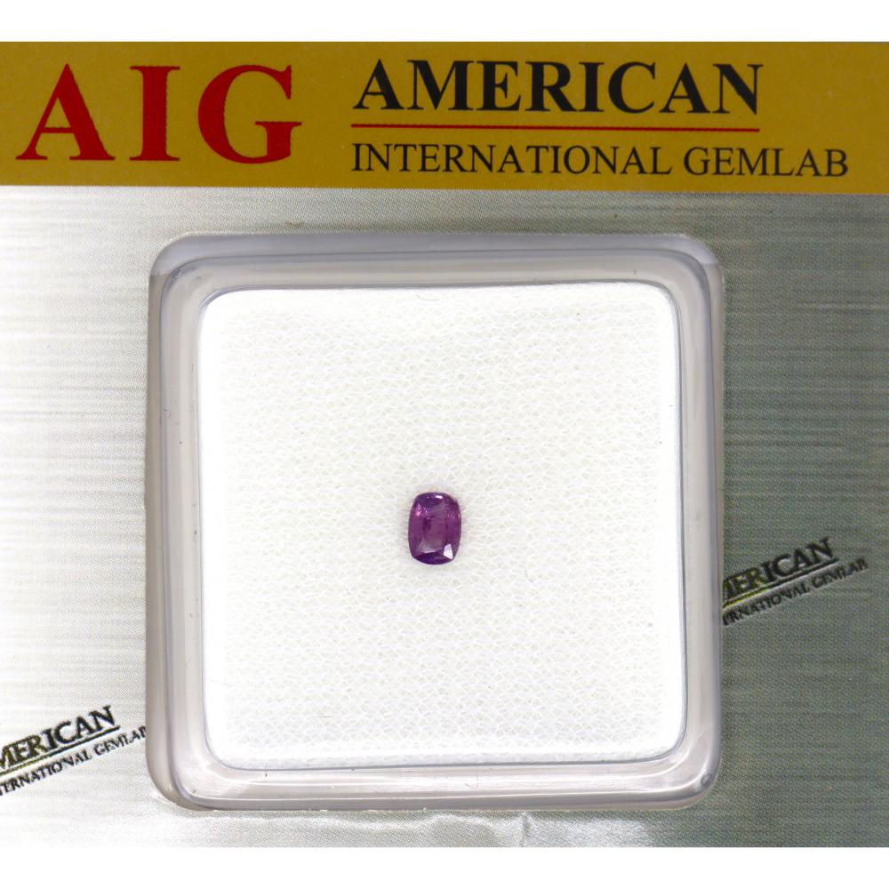 0.52ct Certified, Natural Kashmir Sapphire