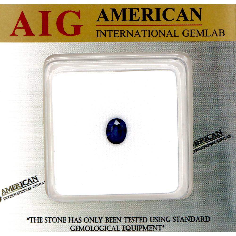 1.66ct Certified, Natural Corundum Sapphire