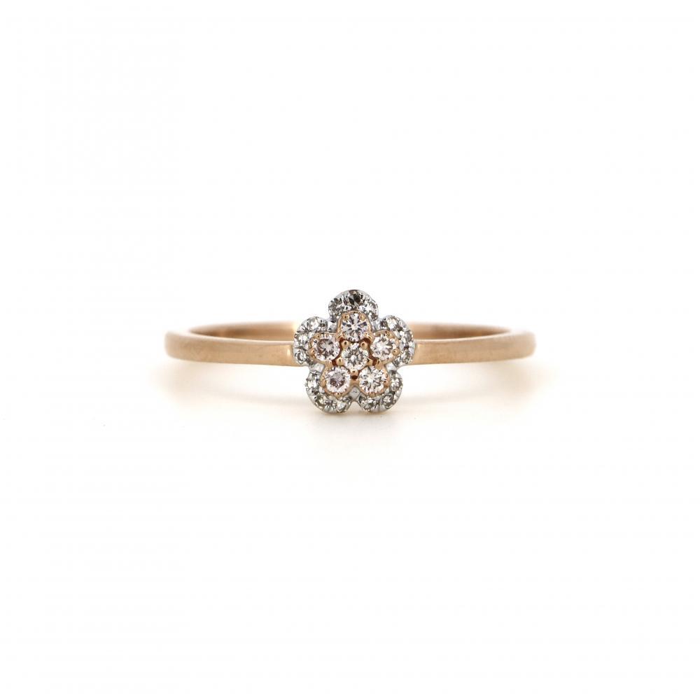 14K Rose Gold and Argyle Pink Diamond, Flower Ring