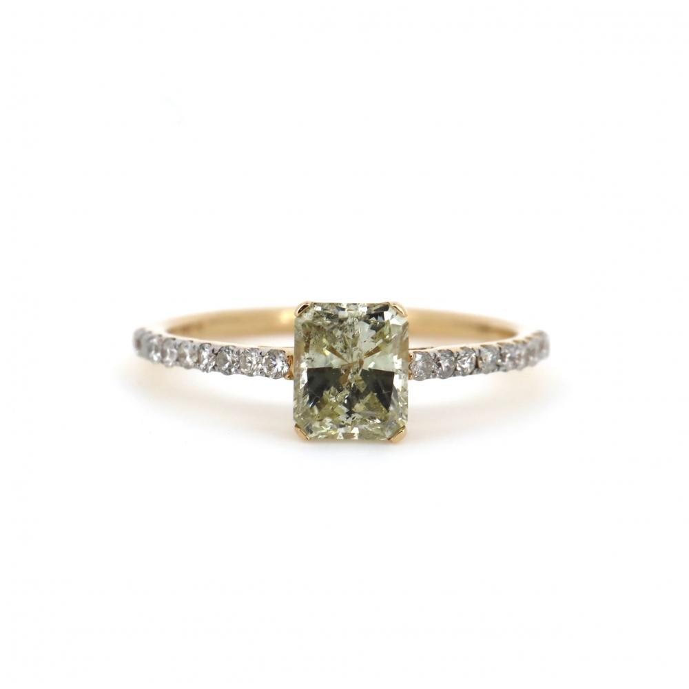 14K Yellow Gold and Yellow Diamond, Classic Ring