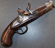 Napoleonic War era French 20 bore flintlock Gendarmerie pistol