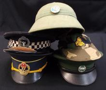 Lot of 5 military & police caps