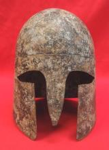"""19th century reproduction of a classical Greek """"hoplite's"""" helmet"""