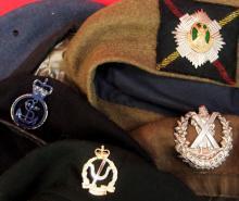 Lot of British berets mixed lot. Good resale lot for dealer