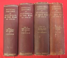 4 Volumes of C.E.W. Bean's Official History of the Great War 1914-1918.