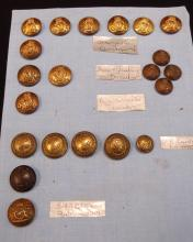 A selection of 21 New Zealand Edwardian & Georgian Military buttons.