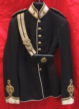 Edwardian era parade jacket and cross belt for a Major serving with the British Army Service Corps
