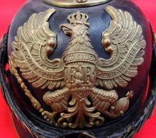 1900 Prussian NCO's/First Year Volunteer spiked helmet