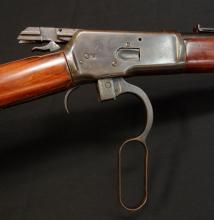 Winchester, Model 1892, lever action rifle. Dated 1944 stamped W.C.F.