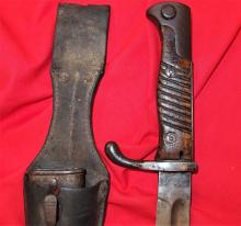 German 98/05 Pattern Bayonet, with Scabbard & Leather Frog