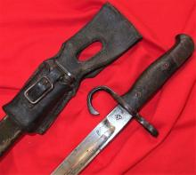 Japanese Type 30 Bayonet, with Scabbard & Leather Frog