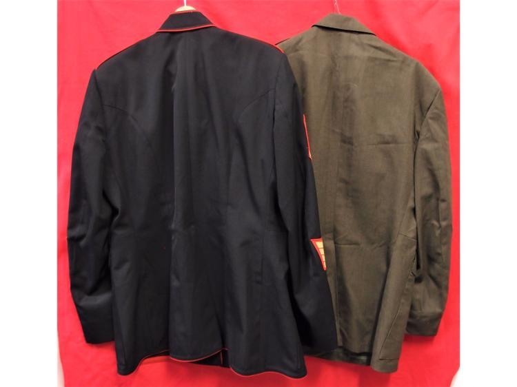 u s m c dress blue and alpha green jackets and belt