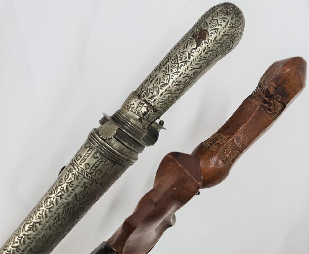 20th century Indonesian Kris & Java pedang knife (2)