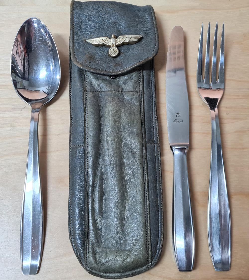 WW2 Germany Kriegsmarine knife, fork and spoon set
