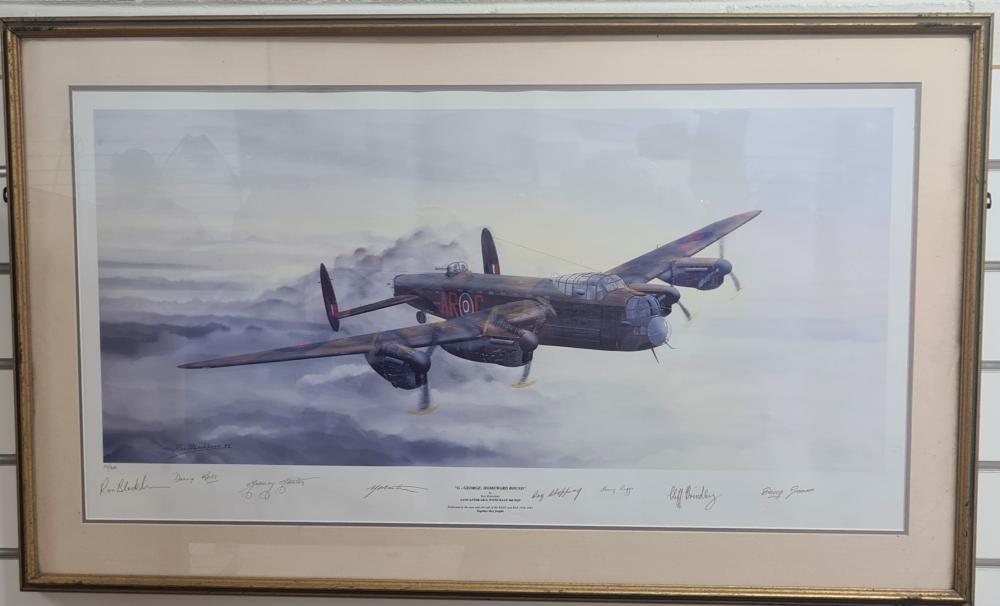 Framed print: WW2 'G – George: Homeward Bound' by Ron Blackburn, Lancaster RAAF 460 Squadron