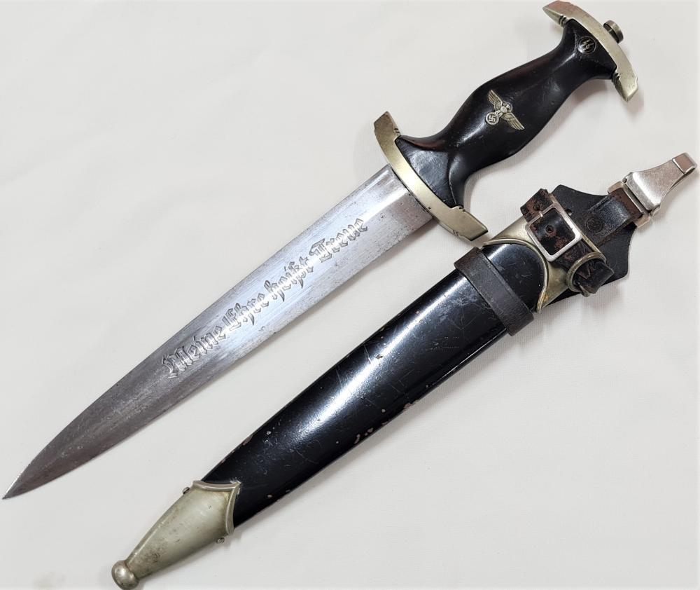 WW2 German S.S. 1933, 1st pattern dagger with scabbard by Boker