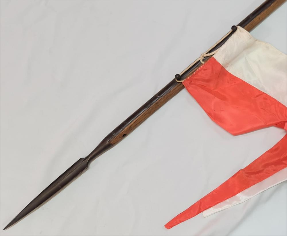 1850s British cavalry/lancers Crimean War era lance by Enfield with pennant