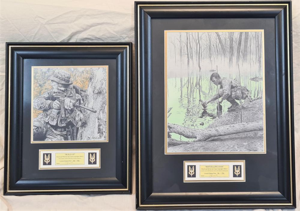 Australian SASR glass framed prints by Ian Coate (2)